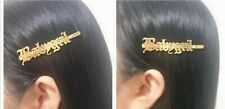 Custom Name Barrette Bridal Women Personalized Font Old English Hair Pin Jewelry