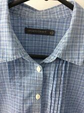 Sportscraft Short Sleeve Pleat Front Checked Blouse Size 12