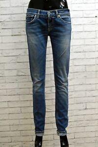 Jeans Donna Dondup Taglia 28 42 Pantaloni Pants Woman Denim