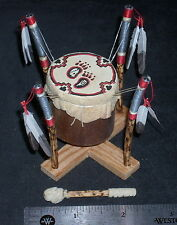 Dollhouse Mini Native American Indian Ceremonial Standing Drum 1:12 #8030 Dudley