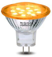 LED Mr11 Amber Light Bulb 12v 35mm Replacement for Low Voltage Halogen Spot