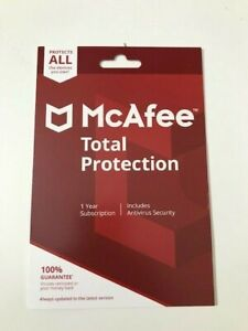 McAfee Total Protection 2020 Unlimited Devices 1 Year Subscription
