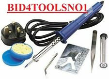 Draper 25W Soldering Iron Kit inc SOLDER 2x TIPS STAND etc 61257 SALE only £6.99