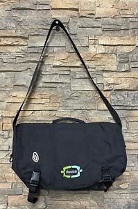 TIMBUK2 Large Laptop Briefcase Messenger Bag Gray Logo Durable Clean!