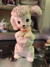 "Vintage 11.5"" Poodle Squeak Toy w/Open/Close Eyes Edward Mobley Arrow Rubber"