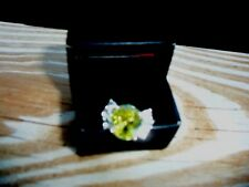 Avon Elegant Lady Cz Ring Apple Green Size 6