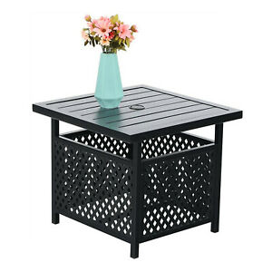 """Patio Table with 1.57"""" Umbrella Hole Coffee End Side Tables Outdoor Furniture"""