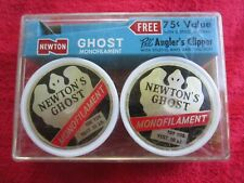 Vintage Newtons Ghost Monofilament 2-100 Yard Spools 10 Lb Test Fishing Line Nos