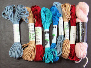 9xNeedlepoint/Embroidery THREAD AC Soied'alger 7ply+PE PepperPot 1ply silk-TN107
