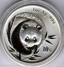 Cina 10 Yuan 2003 ORSO PANDA  @ 1 oncia argento puro @