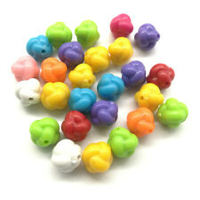 Mixed 30pcs Knot Acrylic Charms Loose Beads Kid Jewelry DIY Accessories 12mm