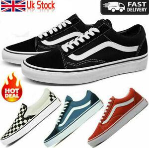All Size VANS Old Skool Skater Shoes Men&Women Low Top Trainer Canvas Sneakers