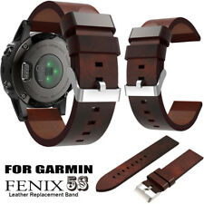 Luxury Leather Strap Replacement Watch Band With Tools For Garmin Fenix 5S Watch