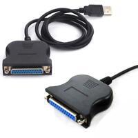 USB 2.0 auf Parallel Adapter LPT DB25 Drucker Kabel Konverter A1Y9 Adapter P5A5