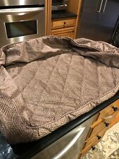 Orvis Microfiber Brown Tweed Bolster Dog Bed Cover Only Sz M Medium New