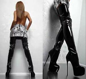 Women Stiletto Thigh Over The Knee High Boots Platform Sexy Nightclub Pole Dance