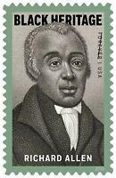 Richard Allen Black Heritage Sheet Of Twenty Forever Postage Stamps Scott 5056