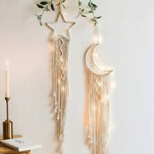 Nordic Star Moon Dream Catcher Decor Room Decoration Wall Hanging Kids Room Gift
