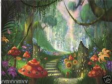 Fairy Tale Jungle Forest Thin Vinyl Photography Backdrop Background 9X6FT TH08