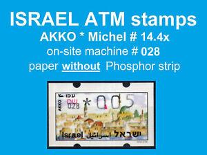 Israel ATM AKKO * no PH * 028 * 0,05 MNH * Klussendorf FRAMA Sima