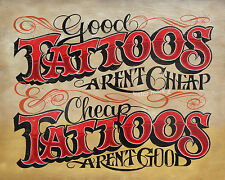 Tattoo Shop Policy  vintage  style Print ink flash  usa decor parlor