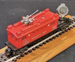Lionel Post War Car #3535 Remake AEC Security Car W/ Working Searchlight (840)