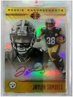 Jaylen Samuels 2018 Illusions Rookie Endorsements Uncirculated Red Rc Auto...
