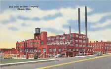 Ohio Postcard Linen GIRARD The Ohio Leather Company Factory
