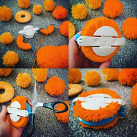 4Sizes Pompom Maker Fluff Ball Weaver Needle Knitting Crafts bobble DIY Tool Kit