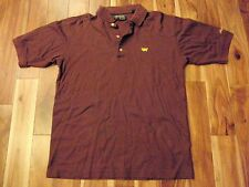 Iconic Masters Collection Brown Golf Polo Shirt Size Men's Small Augusta GA