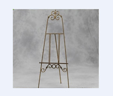 VINTAGE STYLE TALL ANTIQUE GOLD DISPLAY EASEL-WEDDING TABLE PLAN/PICTURE STAND