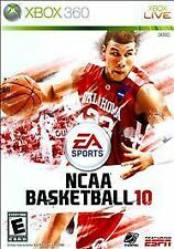 NCAA Basketball 10 (Microsoft Xbox 360, 2009) game very good with box and book