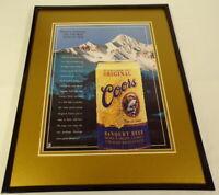 1996 Coors Banquet Beer 11x14 Framed ORIGINAL Advertisement