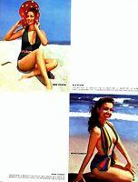 Pinup Lithograph Mara Corday Sue Evans Blaine Freeman 1952 VTG Litho Promo Photo