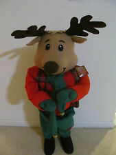 "New 36"" Reindeer/Moose Door/Porch Greeter by Fun World Plush Christmas Decor"