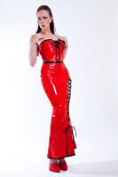 Elegante Charol Vestido de Cóctel en Rojo / Moda PVC Vestido de Cóctel en Rojo