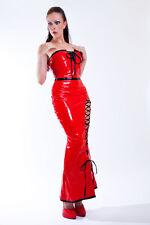 Chic Lacca Abito da cocktail rosso / Trendy PVC abito da cocktail rosso