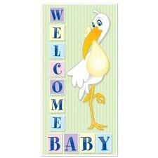 "Baby Shower WELCOME BABY STORK Wall DOOR COVER Party Decoration 30"" X 60"""