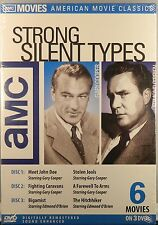 AMC STRONG SILENT TYPES 6 Movies Gary Cooper Edmond O'Brien 3-Disc Set SEALED