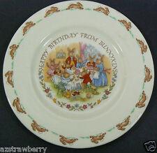 Royal Doulton England Fina China BUNNYKINS Child Baby Happy Birthday Plate
