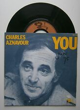 """7"""" Charles Aznavour You Woman Of Today Frence Barclay 1975 Ps"""
