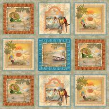 Tropical Dreams carrés TISSU COTON PANNEAU matelassage - 60 cm x 110 cm-SPX