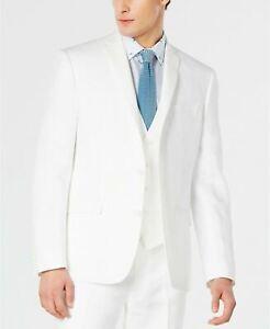 Bar III Men's Slim-Fit White Linen Suit Jacket 42R Sport Coat