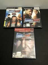 Lot Of 3 PS2 WWE SmackDown vs. Raw 2008 2009 Ft ECW (Sony PlayStation 2, 2004)