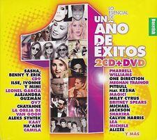 Un Ano de Exitos 2CD+1DVD Lo Esencial CAJA DE CARTON Sasha,Camila,Alizee,Haash