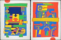 2 of Jacques Soisson 77, Vintage Print Serigraph, Abstract, 1977 Limited Edition