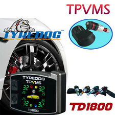 TYREDOG TPVMS TPMS TFT Monitor TPMS 4 Internal Sensor Detect Tire / Rim Abnormal