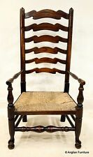 Ladder Back Nursing Chair With Rush Seat 19th Century FREE Nationwide Delivery
