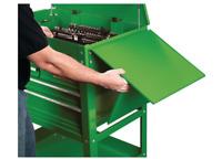 Folding Side Tray Green Tool Cart Storage Tools Supplies Auto Shop Garage