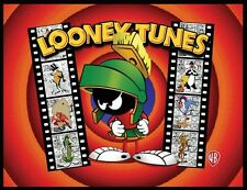 MARVIN THE MARTIAN FRIDGE MAGNET # 5. 4X5.  LOONEY TUNES FILM LOGO.....FREE SHIP